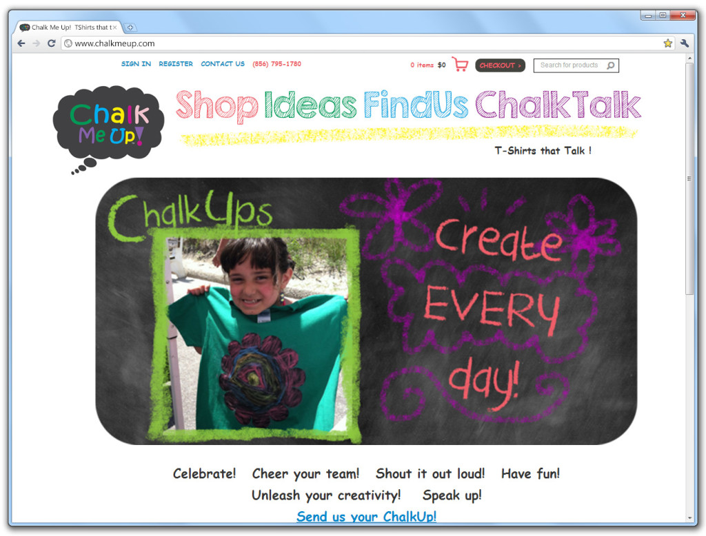 Chalk Me Up website
