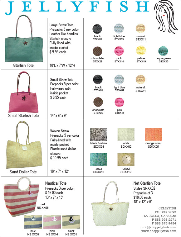 Jellyfish Straw Bags sellsheet