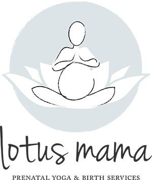 Lotus Mama Prenatal Yoga logo design