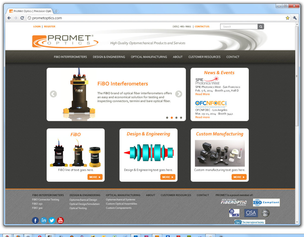 Promet Website Design - home
