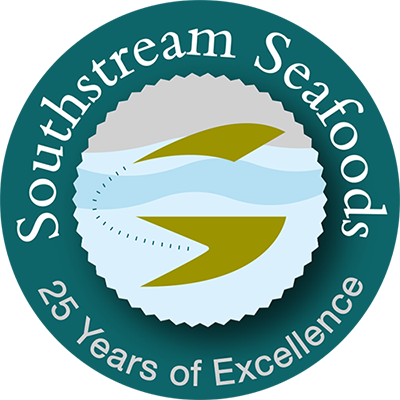 Southstream Seafoods 25th Anniversary logo
