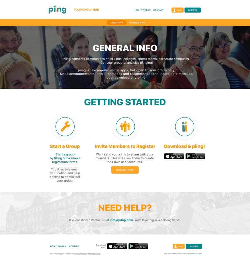 piing website, How It Works